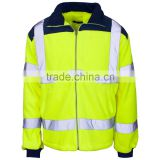 100% polyester high visibility reflective two tone workwear