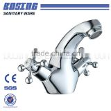 2016 New Design Curved Head Dual Helical Zinc Handle Brass Body Animal Faucet