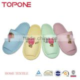 Fashion high quality home useful colorful super soft cotton anti-slip bear waffle lady slipper
