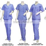 Customized High quality Navy Hospital Scrubs , uniform manufacturer with polyester/cotton material