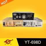 professional audio power amplifier with USB TF FM built-in speaker YT-698D with usb/sd three colour