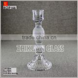 Factory sales Wholesale clear glass long stem candle holder from quality glass candle holder suppliers