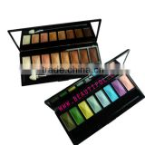 8 color eyeshadow series: with eyeshadow brush/ cosmetics/glitter eyeshadow/wholesale eyeshadow palette