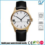 PVD satin gold case coating stainless steel case 5ATM waterproof stainless steel brand fashion watch