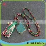 wholesale jewelry long beaded scarf necklace with beaded