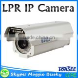 2MP License Plate Recognition Capture 1080P LPR IP Camera 6mm/8mm/12 Lens For High way, White Light Leds,0-120km/h Vehicle Speed