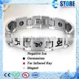Fashion New 6 Words Titanium Germanium Magnetic Bracelet Energy Balance Bracelet For Men