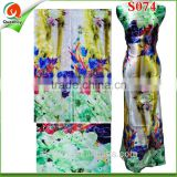 Christmas S074 fashion wolasale 100% spun rayon satin rayon jacquard fabrics for dresses