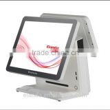 cashier register machine with 1024x768 dual screen pos for hotels / restaurant/ small business stores
