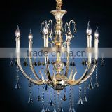 Modern Chinese style golden metal lamparas decorative