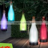 Portable solar bottle light for indoor and outdoor use