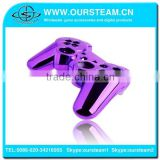 Purple OEM Chrome case cover for PS3 Playstation wireless controller full shell and full set buttons