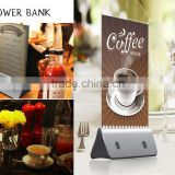 1000mAh 4x 2.1A USB Multiple Charging Station Power Bank with Menu Advertising display For Cafe, Restaurants, Bar, Coffee Shops