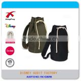 Drawstring Type Basketball Bag, Canvas Gym Sach Drawstring Bag