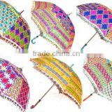 indian handheld embroidered umbrella