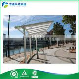 2015 Hot Sale Outdoor Gazebo Garden Composite Pergola Garden Decorative Pergolas For Sightseeing