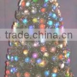 fashion fiber optic xmas tree with colorful ball lamps