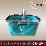 New product collapsible shopping fabric baskets with metal handles(ITEM NO:B150468)
