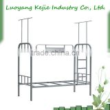Metal heavy adult duty iron steel double bunk pipe/tube bed frame for school dormitory,army and camp in competitive price