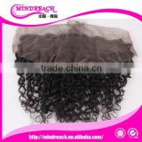 New arrival hot selling quality natural color curly wholesale human hair lace frontal piece