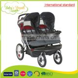 BS-47A international standard double baby strollers 2 in 1 in shanghai without added fabric