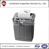 shredder,paper shredder,office equipment,strip cut electric paper Shredder,inspection service in China,inspection agency,QC