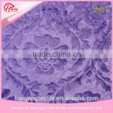 3D embossing purple flower 100% polyester knitted velboa/velvet fabric for toy fabric                                                                         Quality Choice