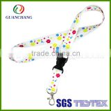 New products metal buckle lanyard with no minimum order, lanyard breakaway clip