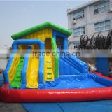 used inflatable water slide with swimming pool                                                                         Quality Choice