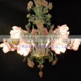 Pink / white Flower Chandelier Lamp