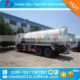 20MT hevy duty sino shacman6x4 liquid waste vacuum suction truck