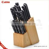stainless steel wooden block kitchen knife set                                                                                         Most Popular