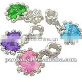 Alloy European Style Dangle Beads, Heart, Wholesale Beads Supplies, MixedColor(MPDL-Q141-M)