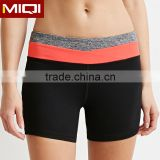 Custom simply design high quality 4 way stretch fabric yoga shorts breathable moisture wicking sublimation woman run shorts