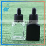 15ml rectangle glass dropper bottles with childproof tamper evident dropper caps clear and black color