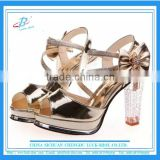 Women clear chunky heel shoes women sexy party shoes bride high heel women wedding shoes