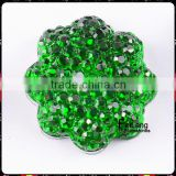 Feilang brand wholesale flower shape green resin crystal for decoration