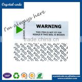 Paper roll sticker price retail security void label