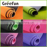 2016 Hot Sale 4mm TPE eco friendly anti slip yoga mat with carry strap easy washable sport mat manufacturer