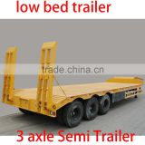 Container 3 axle Semi Trailer 3 axle Low-bed Semitrailer cargo trailer 6 wheels goosneck semi trailer