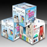 Custom made Paper PDQ / mobile phone advertising shelf corrugated cardboard display box