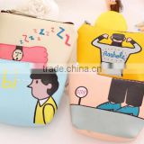 Fashion Promotion gift cute Zipper Mini small PU Leather cheap cartoon emoji printed pouch wallet fancy euro coin purse handbag
