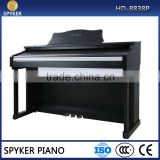 HUANGMA/SPYKER HD-8838P 88 keyboard electric piano with granded hammer effect, hammer action keyboard, LCD display digital piano