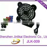 black stand metal panda shape usb fan with plastic fanblade