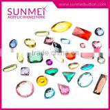 Plastic crystal stone flatback crystal flat back rhinestone rhinestones for garment with great price