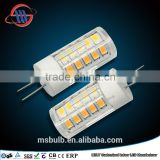 China Zhejiang factory direct sale, SMD2835 ceramic G4 led light 220-240V 6W 550lm TUV CE approved hot sale