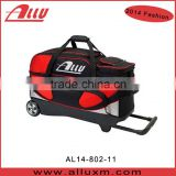 2014 Trendy bowling triple bag sports bag with wheels