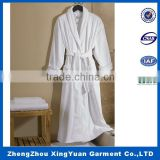 White Fleece Background Fashionable Popular Long Sleeve Ladies Bathrobe, bath robe, robe