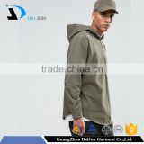 Daijun New design oem service half zipper 100% cotton men's brown custom blank xxxxl hoodies