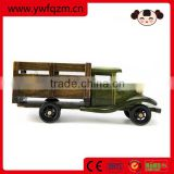 wooden decoration garbage truck toy